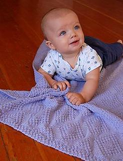 Ravelry Moss Stitch Diamonds Baby Blanket Pattern By Barbara Breiter