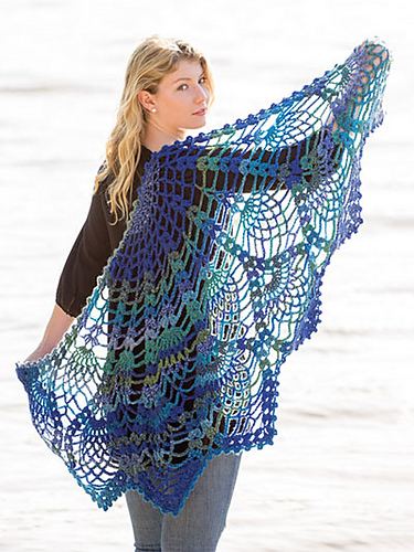 Ravelry Pineapple Peacock Shawl Pattern By Amy Gunderson