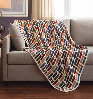 Ravelry: Brickwork Afghan pattern by Mary Maxim