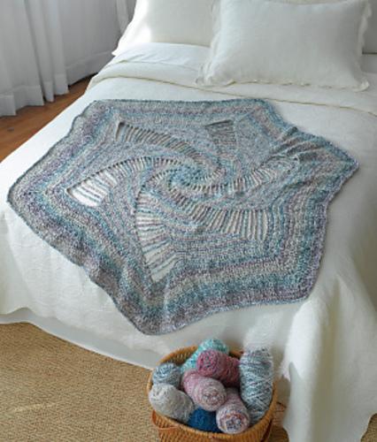 Ravelry Spiral Crocheted Afghan Pattern By Lion Brand Yarn