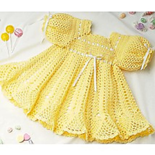 Ravelry Banana Split Baby Dress Pattern By C Strohmeyer
