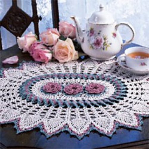 Ravelry Rose Ring Doily Aka Rose Delight Pattern By Linda Sparkman