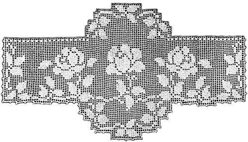 Ravelry Rose Medallion Scarf End Filet Crochet Pattern Patterns