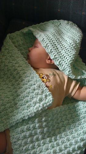 Ravelry Hooded Baby Blanket Crochet Pattern By Lion Brand Yarn