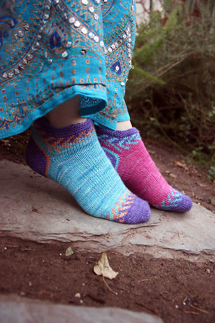 Ravelry Crystal Socklet Pattern By Lynn Dt Hershberger