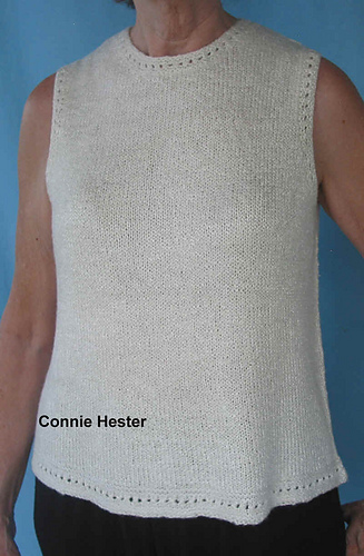 Ravelry Knit Tank Top Pattern By Connie Hester