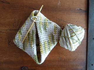 Ravelry Double Thick Diagonally Crocheted Potholder