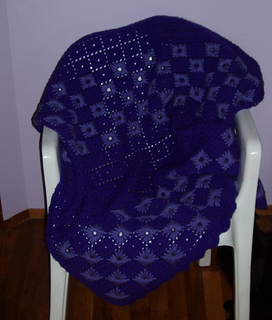 ravelry purple starbursts pattern by margaret e gessner