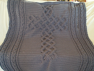 Ravelry: Chunky Celtic Cross cable afghan / blanket ...