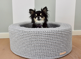 Ravelry Deliahs Dog Bed Pattern By Counting Loops