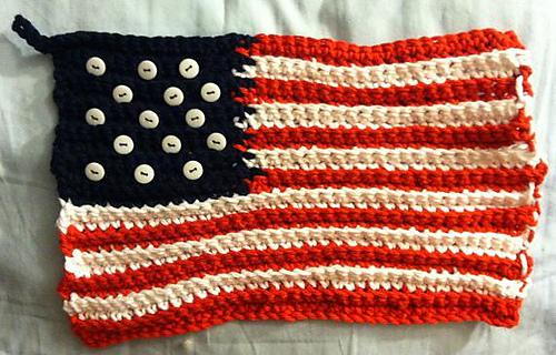 Ravelry: American Flag Crochet Potholder pattern by Lily