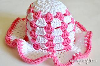 1e4d61dd4 Ravelry: Baby Girl Granny Stitch Sun Hat pattern by Sara McFall