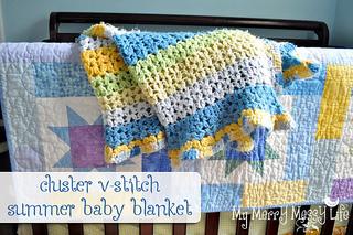 Crochet Pattern For Summer Baby Blanket : Ravelry: Summer Baby Blanket using the Cluster V-Stitch ...