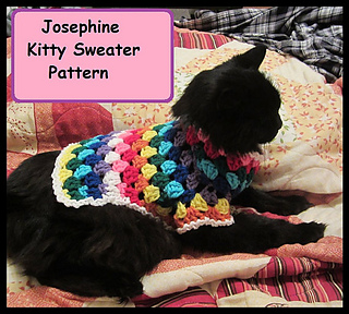Ravelry Josephine Kitty Cat Or Small Dog Crochet Sweater Pattern By Starling