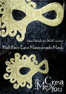 ravelry half face lace masquerade mask pattern by farrah hodgson