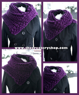 Ravelry Easy 3c Chunky Collar Cowl Pattern By Createry Shop