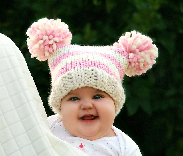 Ravelry baby jester pom pom hat pattern by creatiknit
