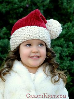 Ravelry  The Santa Cutie Hat pattern by CreatiKnit 1bca48e57349