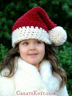 Ravelry  The Santa Baby Hat pattern by CreatiKnit 30e02bdabb7d