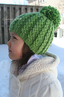 Mock Cable Hat pattern by Creations By MTP 13bc2176d2b