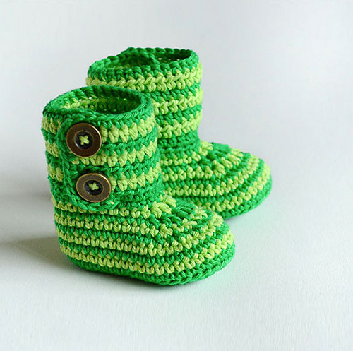 Ravelry Crochet Baby Booties Green Zebra Pattern By Croby Patterns