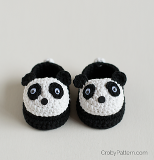 86fdeb020 Ravelry: Crochet Baby Panda Booties pattern by Croby Patterns