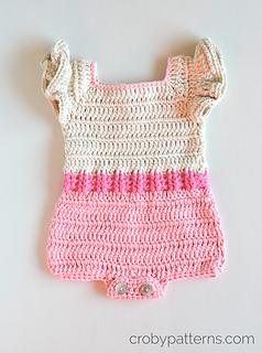 6ff2b2f448b Ravelry  Crochet Baby Romper - Pink Flamingo pattern by Croby Patterns