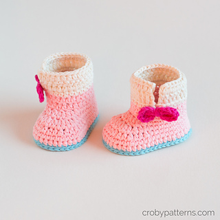 f67bd4935 Baby Unicorn Booties pattern by Croby Patterns