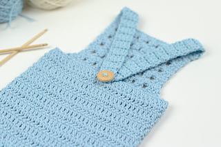 8b6615898c7f Ravelry  Blue Orchid Baby Romper pattern by Croby Patterns