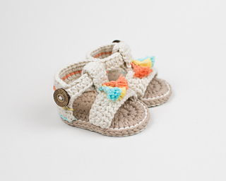 b4e7ae1777ff Ravelry  Boho Baby Sandals pattern by Croby Patterns