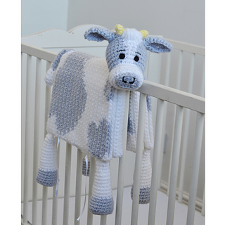Ravelry Cuddle And Play Cow Baby Blanket Pattern By Aneta Izabela