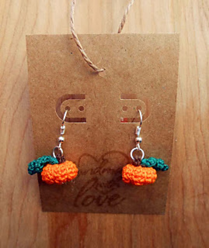 Ravelry The Cutest Pumpkin Earrings Ever Pattern By Crochetcauldron