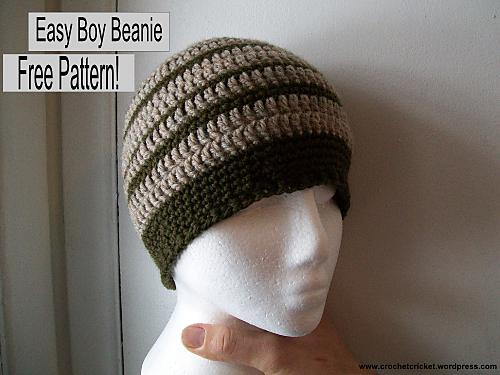 Ravelry Easy Boy Beanie Pattern By Crochet Cricket