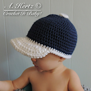 Ravelry  Crochet Baseball Cap Pattern - 4 Sizes pattern by Crochet ... 078c2ab571f