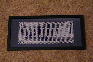 Ravelry Filet Crochet Name Doily Pattern By Tammy Harder