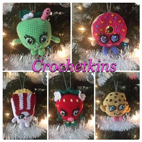 Ravelry: Shopkins Christmas Ornaments pattern by Jen Smith