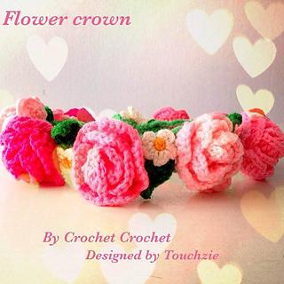 Ravelry  Crocheted Flower Crown pattern by Crocket Crochet 351fd1da270