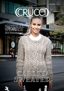 5b8e918d7 Ravelry  1762 Cabled Sweater pattern by Crucci Wools Limited