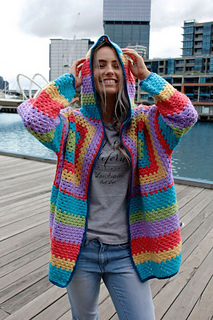 8622ed19d Ravelry  1641 Crochet Hooded Jacket pattern by Crucci Wools Limited