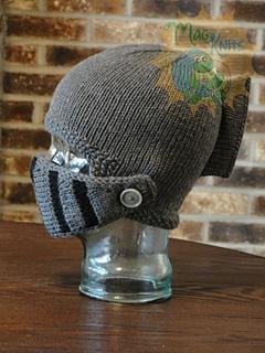 60391c0a8e177 patterns   Martina Gardner s Ravelry Store.   Sir Knight Helmet - KNIT