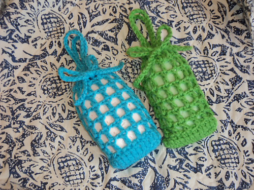 Ravelry Crochet Net Soap Saver And Body Scrubber Pattern By Karla