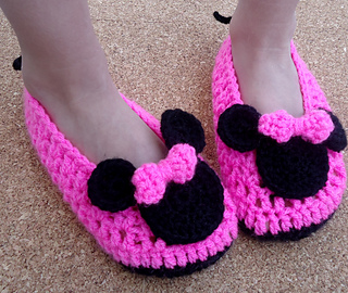 6ce76a28e0981 Ravelry  Miss Bow Mouse Shoes Child pattern by Beauty Crochet Pattern