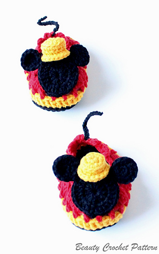 Ravelry Mrm Mouse Crochet Shoes Toddler Pattern By Beauty Crochet
