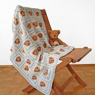 524c661f49218 Vintage Teddy Bear Blanket pattern by Dragana Savkov Bajic