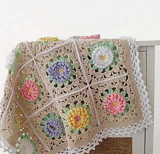 60231716e70cf English Garden Blanket pattern by Dragana Savkov Bajic