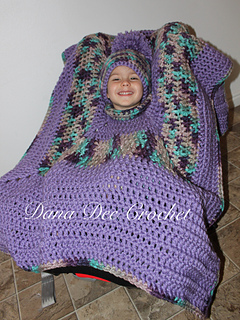 Ravelry Chunky Car Seat Poncho Pattern By Dana Draves