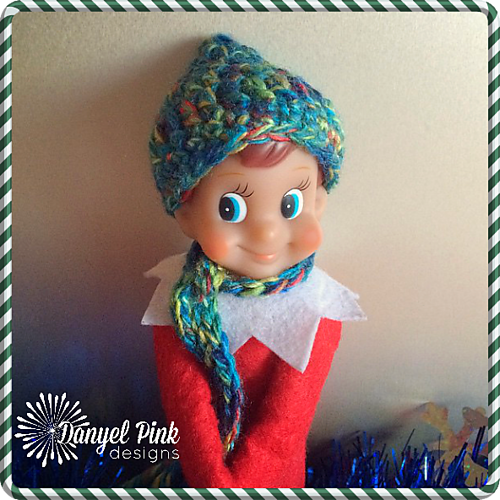 Ravelry Shelf Elf Pixie Hat And Scarf Pattern By Danyel Pink