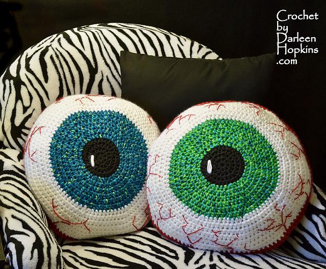Ravelry Bloodshot Eyeball Pillow Crochet Pattern By Darleen Hopkins