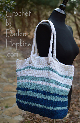 Ravelry Modern Tote Bag Pattern By Darleen Hopkins