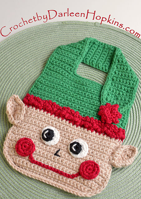 Ravelry Christmas Elf Baby Bib Pattern By Darleen Hopkins